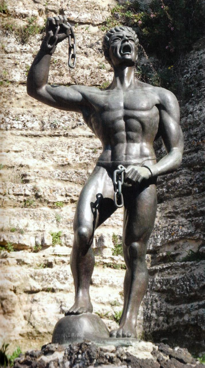 Eunos, statua nel castello di Lombardia a Enna