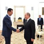 Assad ricevuto da Putin nel 2015