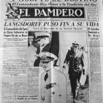 La prima pagina de El Pampero dedicata all'affondamento della Admiral Graf Spee