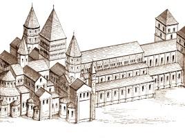 Ricostruzione dell'abbazia di Cluny
