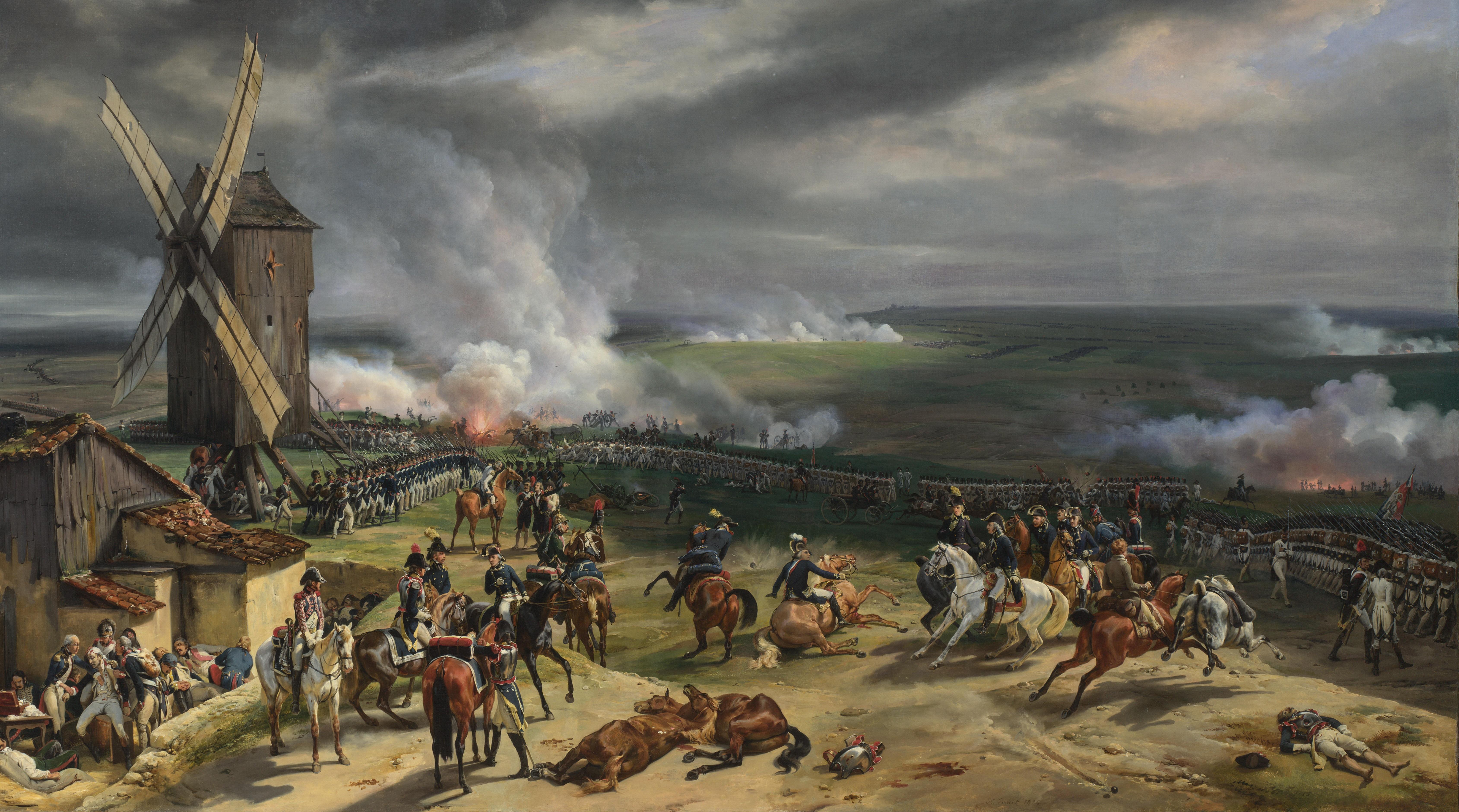 La battaglia di Valmy, di Emile-Jean-Horace Vernet