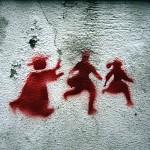 Graffito contro gli abusi sui bambini, Portogallo, 2011 - Milliped