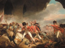 L'ultimo sforzo e la caduta del sultano Tippu, episodio dell'assedio di Seringapatam, di Henry Singleton