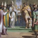 Carlo Magno conferma a papa Adriano I le donazioni del padre Pipino il Breve