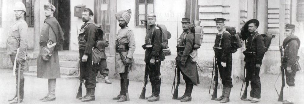 Un contingente internazionale a Tientsin, 1901