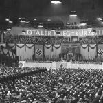 La sala dello Sportpalast di Berlino il 18 febbraio 1943