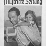 Joseph Goebbels con la sua primogenita Helga nel 1935