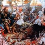 Vladimiro Monomaco si riposa dopo una caccia