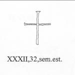 Croce latina semplice, III secolo