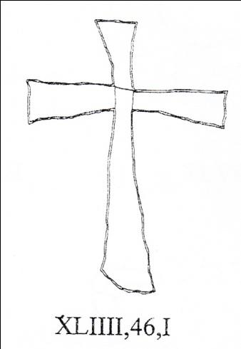 Croce latina semplice con terminali espansi, Colosseo
