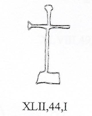 Croce latina semplice con terminali espansi sormontante colle, Colosseo
