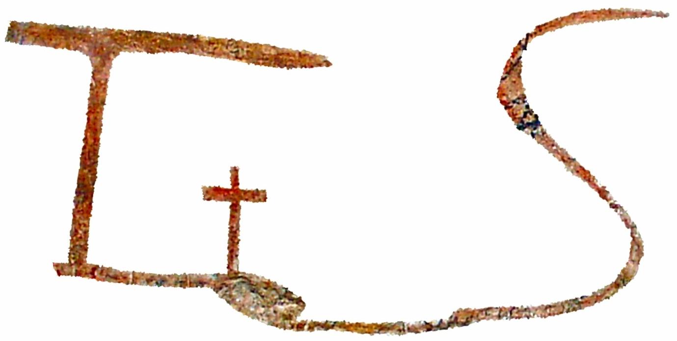 Le lettere T, S e la croce