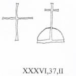 Croce latina semplice a sinistra, III secolo, Colosseo