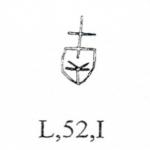 Croce sormontante scudo sannitico quadripartito