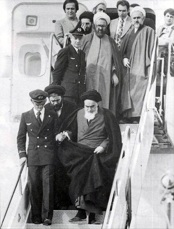 L'arrivo di Khomeini in Iran, 1979