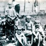Bambini nel campo di concentramento di Rab