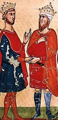 Federico incontra Al-Kamil Muhammad al-Malik