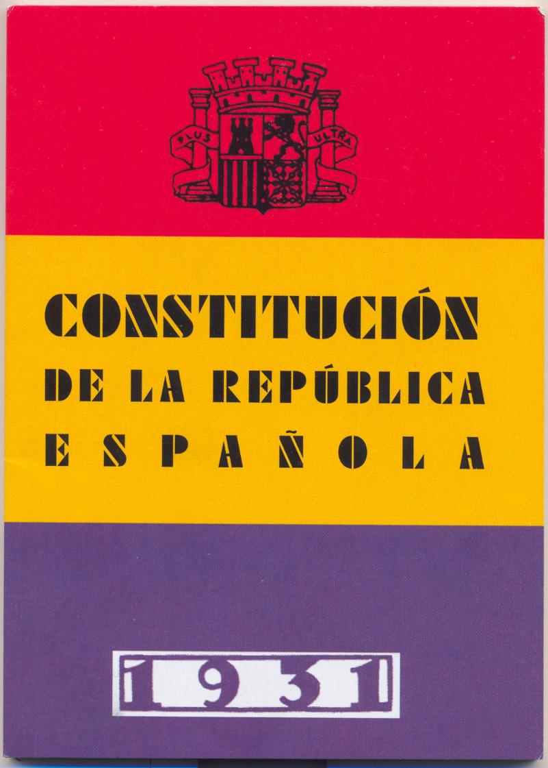 Frontespizio della Costituzione del 1931