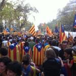 Manifestazione indipendentista a Barcellona nel 2012