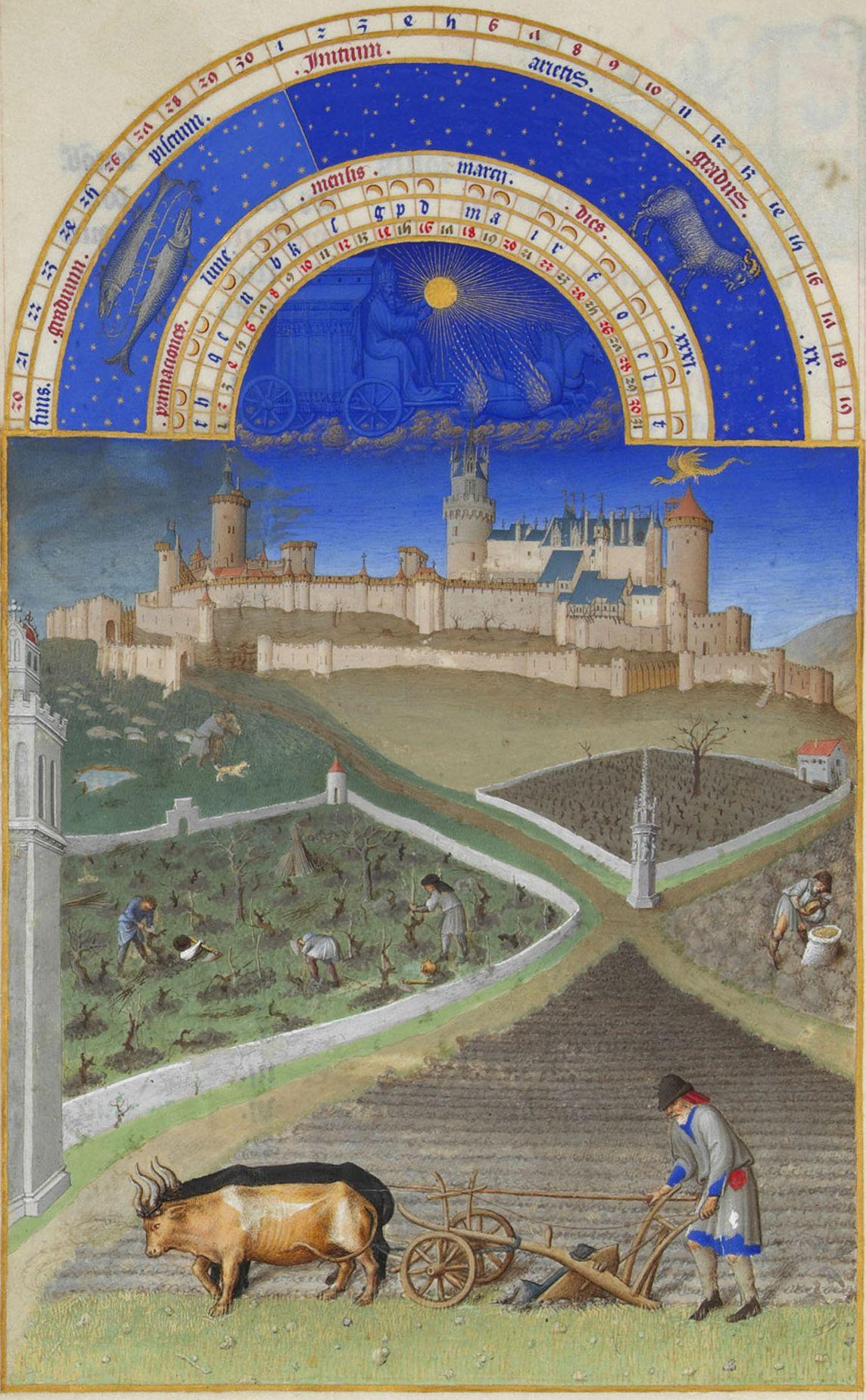 Miniatura da Les Très Riches Heures du duc de Berry, XV secolo.