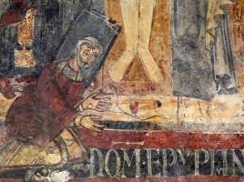 san_lorenzo_in_insula_cripta_di_epifanio_affreschi_di_scuola_benedettina_824-842_ca-_crocifissione_coi_dolenti_e_labate_epifanio_04-copia