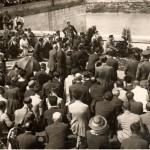 Cerimonia sul Lungotevere Artnaldo da Brescia