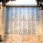 La lapide a ricordo delle vittime