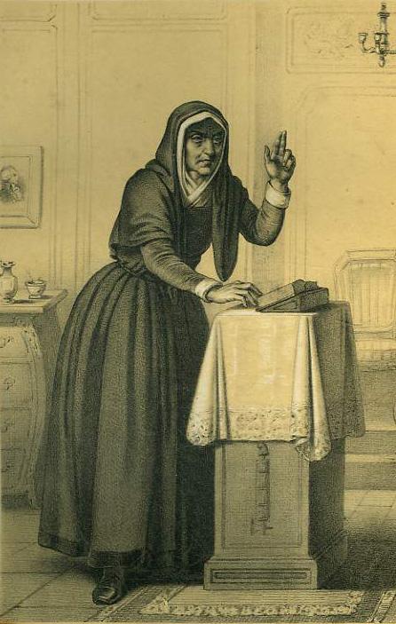 Catherine Théot, incisione di Alexandre Lacauchie, 1835.
