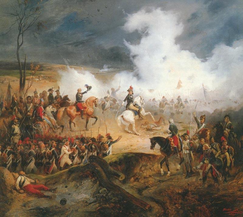 La battaglia di Varoux, 27 novembre 1792, di Victor Adam.