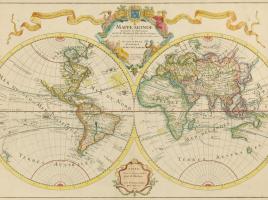Il mappamondo di Delisle, XVIII secolo.