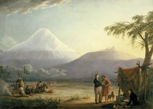 Humboldt e Bonpland ai piedi del vulcano Chimborazo