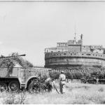 Blindato tedesco a Castel Sant'Angelo