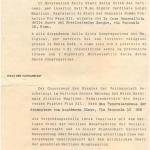 Attestazione rilasciata dal Vaticano alle Case religiose nell'ottobre del 1943