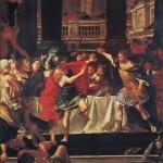 Filippo di Macedonia frena l'ira di Alessandro, di Donato Creti