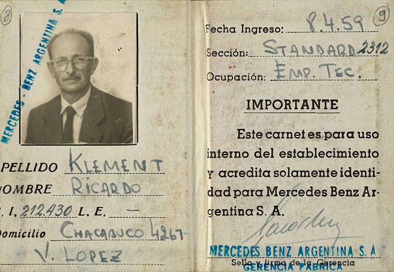 La tessera di riconoscimento aziendale, in Argentina