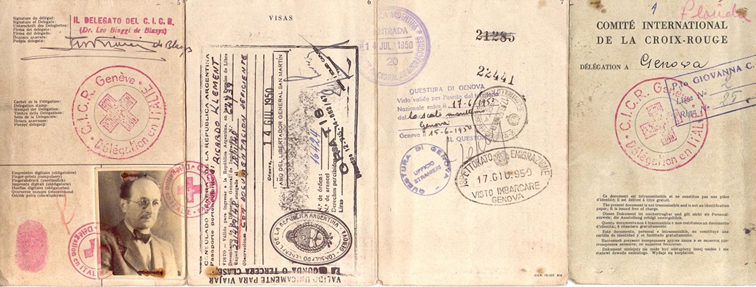 Il passaporto a nome Klement