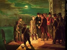 Pellico e Maroncelli lasciano la prigione di Venezia per essere condotti allo Spielberg (1822).