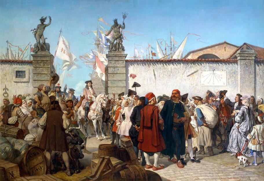 La proclamazione del porto franco di Trieste nel 1719, di Cesare Dell'Acqua (1855)