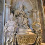 La tomba di Leone XI nella basilica di San Pietro.