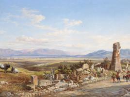 Viandanti sull'Appia Antica, di Arthur John Strutt, 1858.